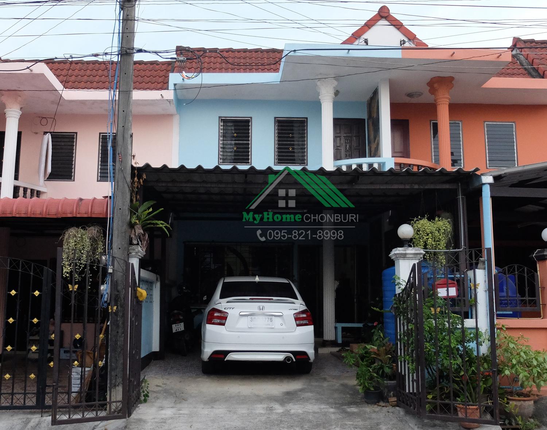 ขายบ้านศรีราชา ทาวน์เฮ้าส์/ทาวน์โฮม 2 ชั้น เส้นถนนเก้ากิโล 23 ตร.ว. 3 ห้องนอน 1 ห้องน้ำ 2 ห้องครัว จอดรถยนต์ได้ 1 คัน